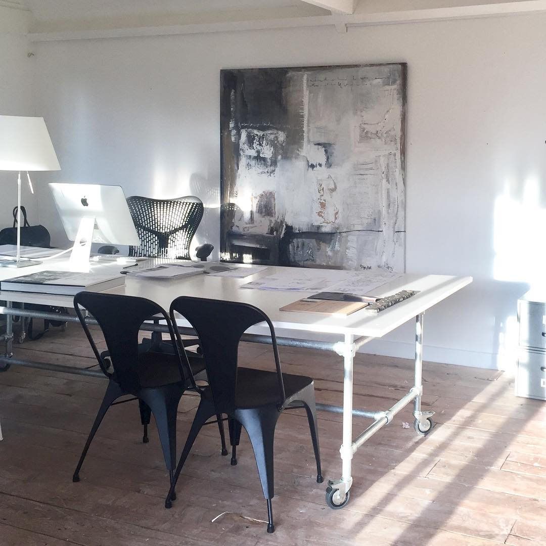 galvanised studio table