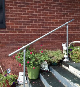 External wall mounted handrail