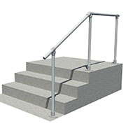 Steps to landing handrail kit