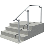 Steps to landing handrail (Any angle)