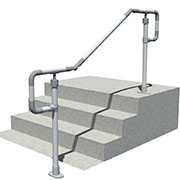 DDA compatible floor mounted handrail - Single rail