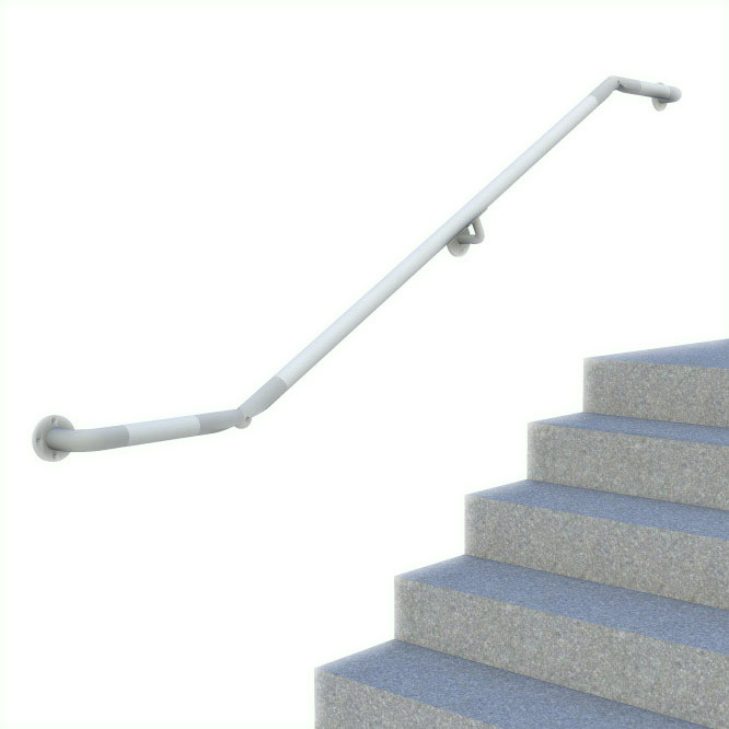 DDA compatible wall mounted handrail - DDA-565