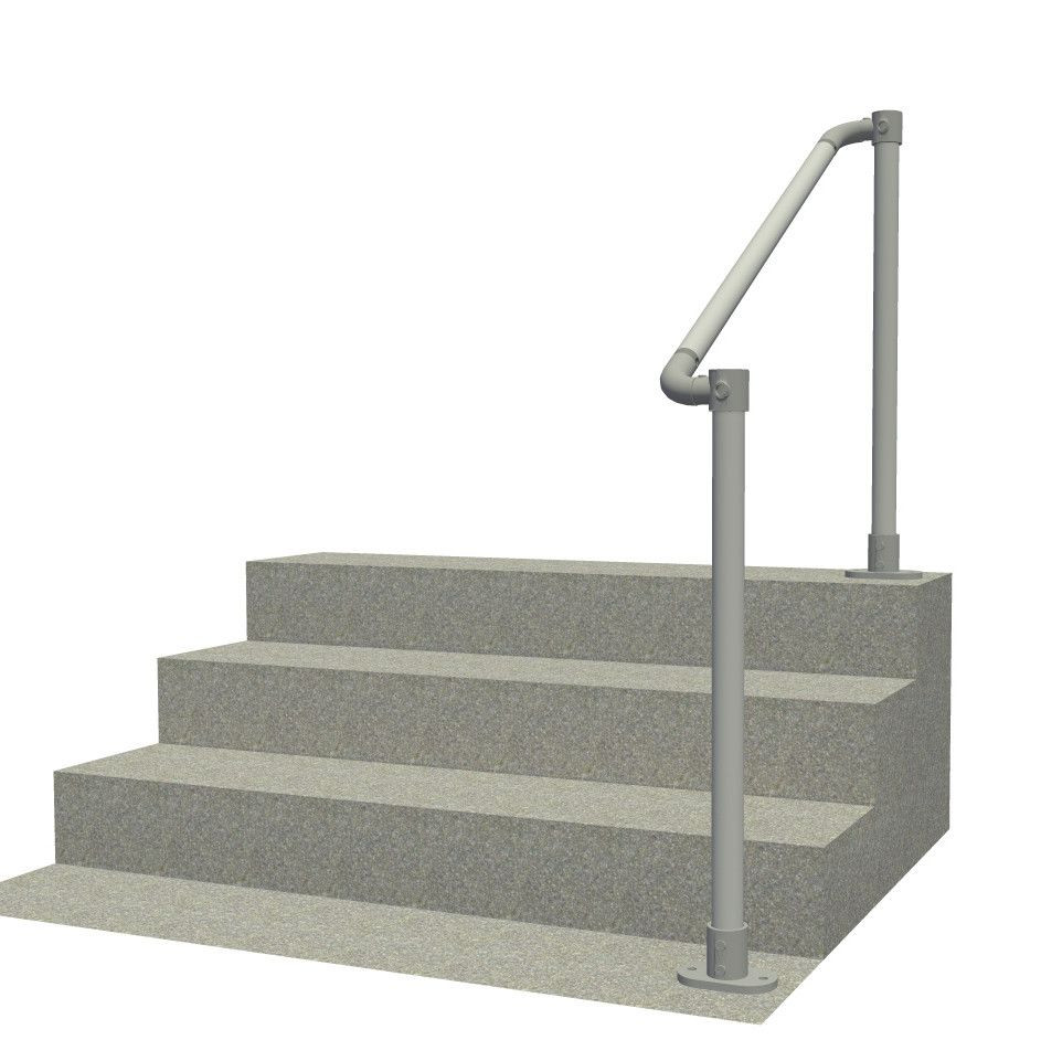 SR-567 - Floor mounted handrail system with rounded ends