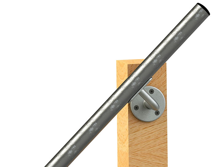 Offset wall handrail