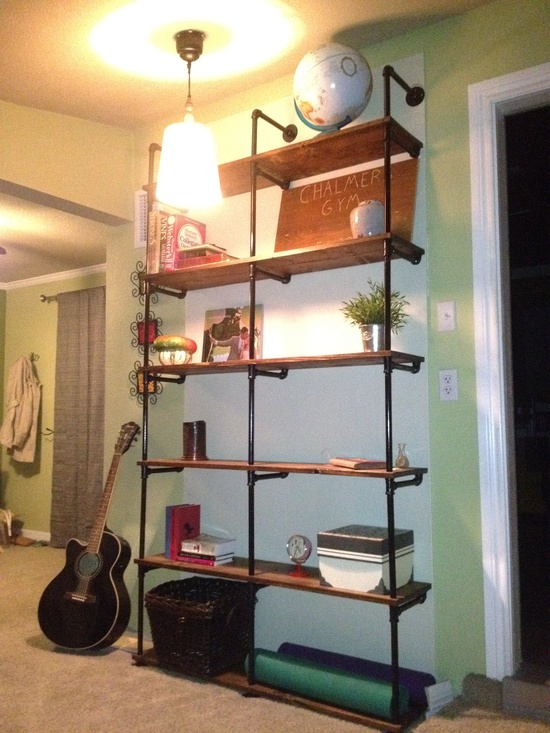 industrial style shelving unit projects simplified. Black Bedroom Furniture Sets. Home Design Ideas
