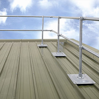 roof edge protection for corrugated metal roofs