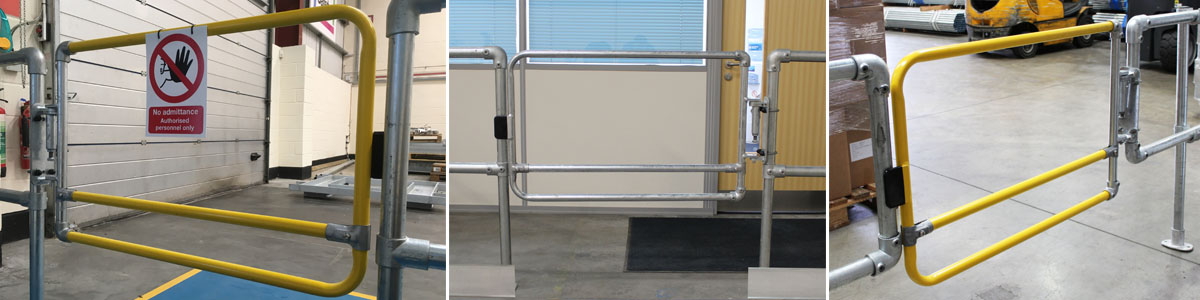 Safety gates for warehouses and logistics
